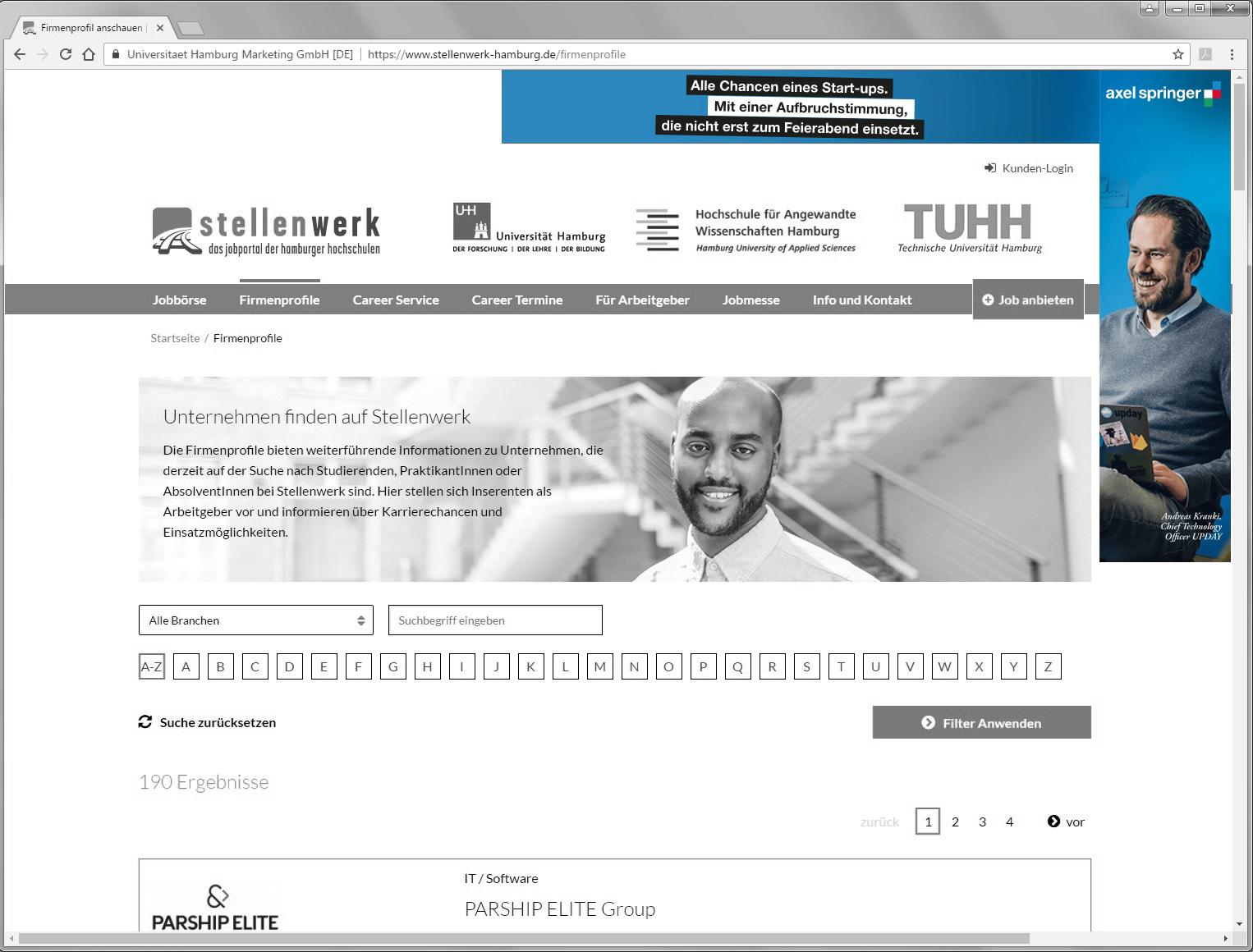 Stellenwerk Hamburg, Wallpaper, Studentenjob, Stellenbörse
